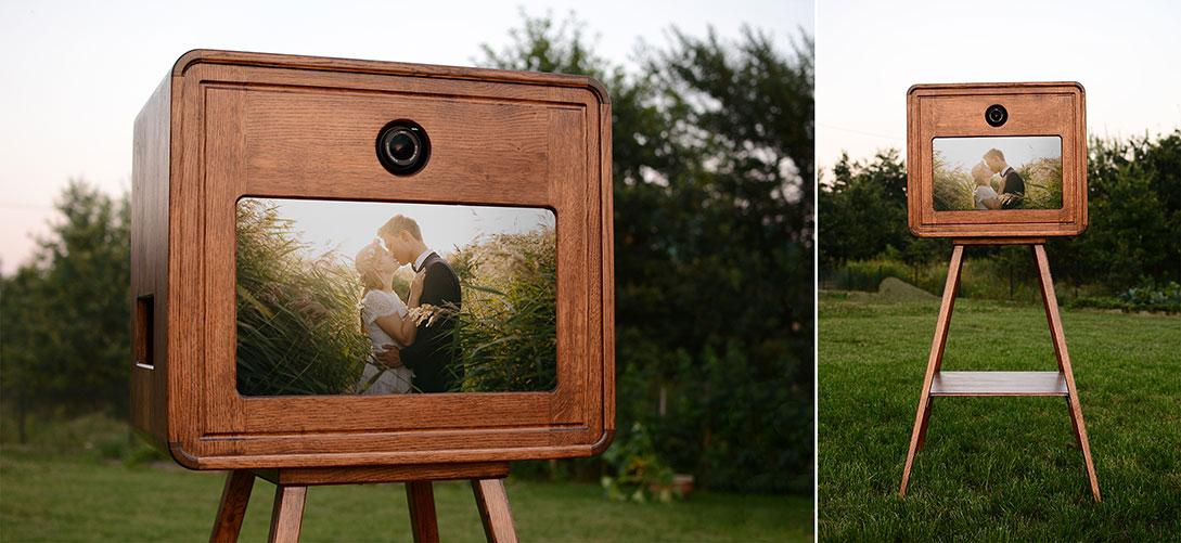 fotobudka z drewna
